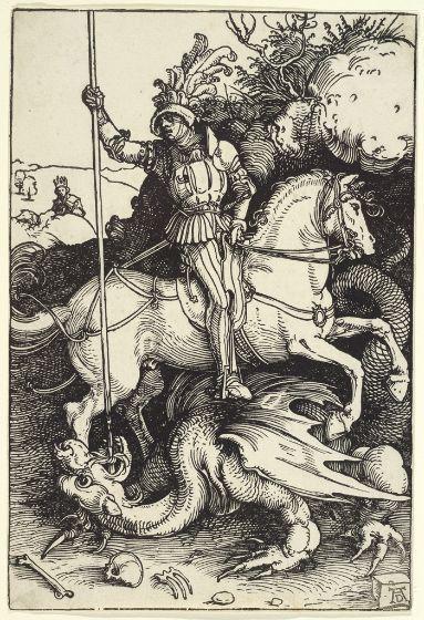 Albrecht Dürer, Saint George and the Dragon, c. 1504-05, Harvard Art Museums/Fogg Museum.