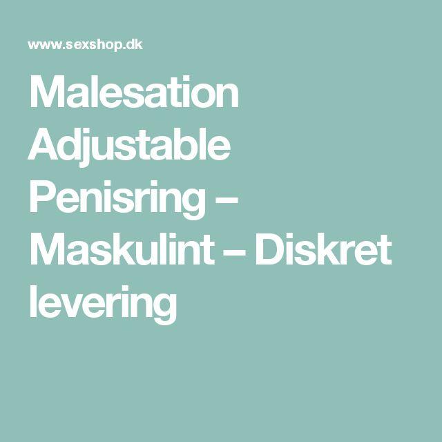 Malesation Adjustable Penisring – Maskulint – Diskret levering