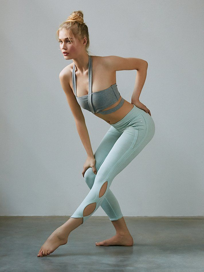 Infinity Legging | So-soft cropped activewear leggings with Picot Performance cutouts in an infinity design.