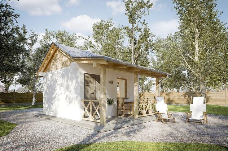 DOM.PL™ - Projekt domu KP G207 CE - GARAŻ KT3-29 - gotowy projekt domu