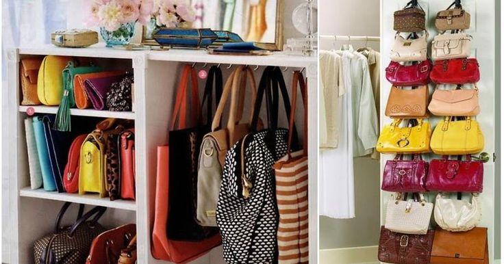 10 maneras ingeniosas de organizar bolsos y carteras en casa