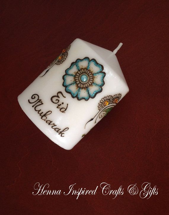 Made to order Candle Eid Mubarak Eid Gift by HennaCraftsbyPramila