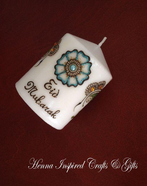 Made to order Candle Eid Mubarak Eid Gift by HennaCraftsbyPramila