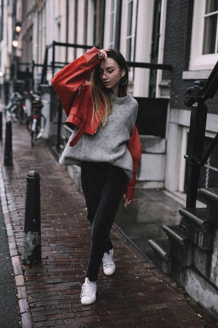 80s Style Red Moto Jacket • The Fashion Cuisine ...