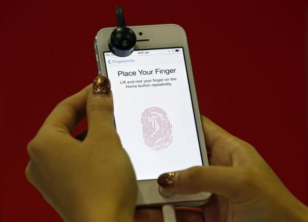 The famous finger print scanner of iPhone 5s.