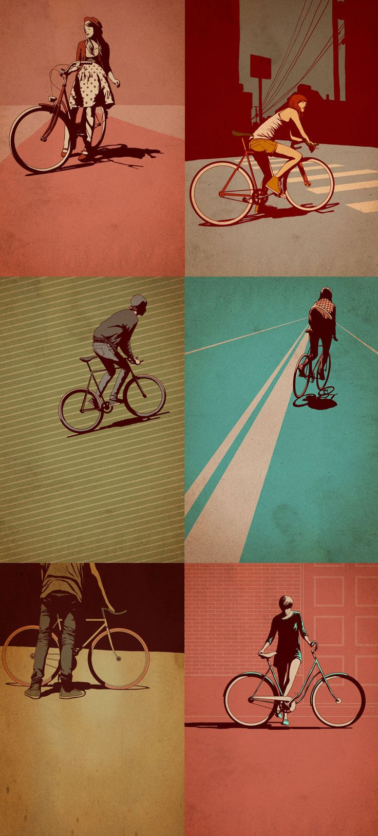 Bike illustrations by tumblr artist Adams Carvalho.