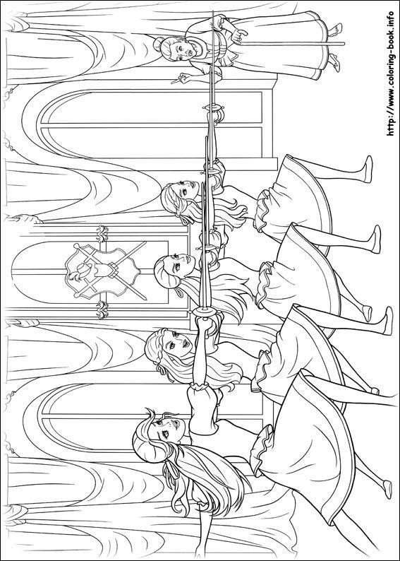 Barbie Et Les Mousquetaires Coloring PagesColoring BooksColouringThe