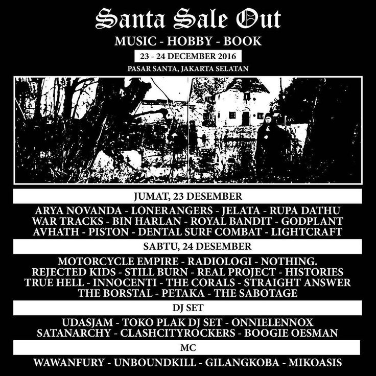 mark your date !! #santamusiclub annual festival, #santasaleout2016 is coming to town !! #pasarsanta #jajanrock
