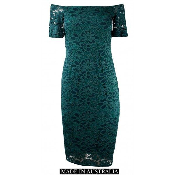 Emerald Slimming Lace Dress
