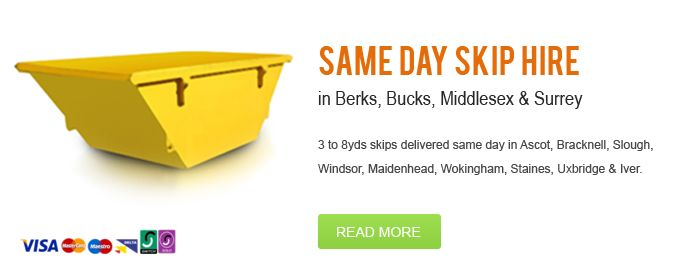 Skip hire and waste management company in Berkshire also delivering to Slough, Staines and Wokingham. Up to seven day hire. Same day delivery and pick up also available.