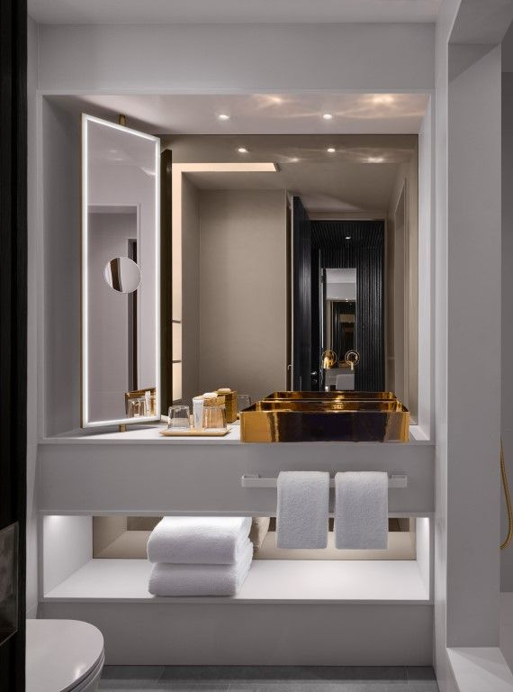 Nobu Hotel Shoreditch Opens in London's Artistic Quarter. Bathroom ModernDesign  ...