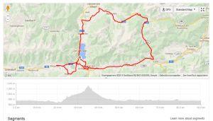 Hieronder het race course van de Ironman Zell am See 70.3 2014. Aantal hoogtemeters: 1400