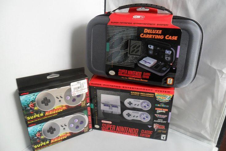 Nintendo Classic SNES Mini, Boss Wireless Controllers & Carrying Case Bundle-New: $175.00 (0 Bids) End Date: Saturday Feb-17-2018 5:51:47…