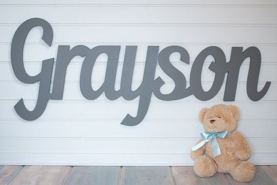 Gray+Wooden+name+sign+11++12++letters+Baby+by+MoonSnailCreations1
