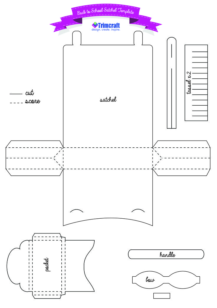 DIY Back to School Me to You Paper Satchel template