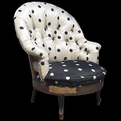 I want a polka dot tufted chair for the living room...it would be my throne!