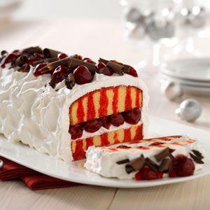 JELLO Christmas Recipes - Holiday Recipes from JELL O cherry poke cake