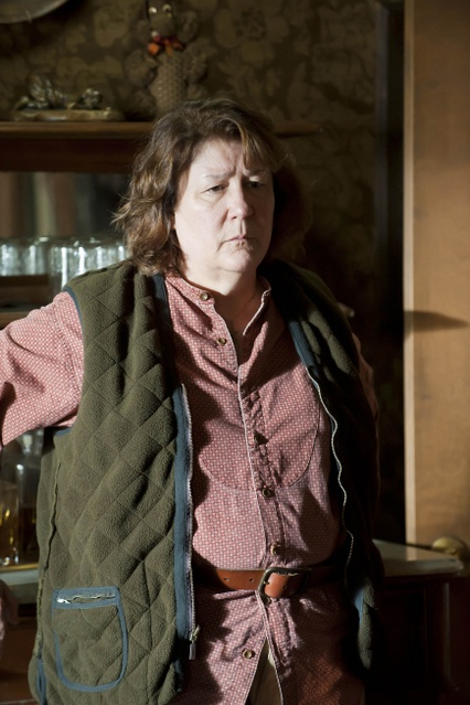"""Margo Martindale on playing her """"Justified"""" character """"Mags Bennett"""": """"I'm a very nice person. [Laughs.] But that dark, sinister, mean thing is just as easy as sleeping is for me. It's a great place to be, because you don't have to think one moment about putting on airs of any kind as an actress. You don't have to think about prettying it up. Just let it drop to the bottom and go from there. It's a wonderful place to go from. It's very liberating."""" [avclub.com]"""