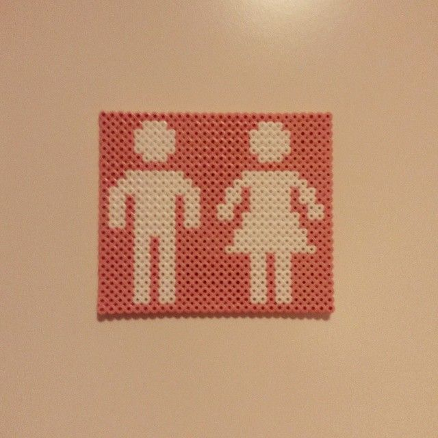 Toilet sign hama beads by h3idi76