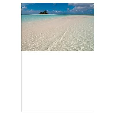 Tropical palm covered island. Poster