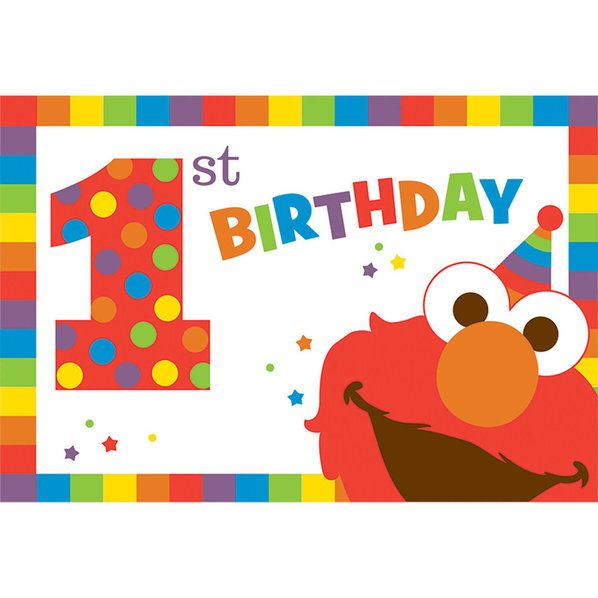 Check out Elmo Turns One Postcard Invitations | Elmo's 1st Birthday tableware & décor from Wholesale Party Supplies from Wholesale Party Supplies