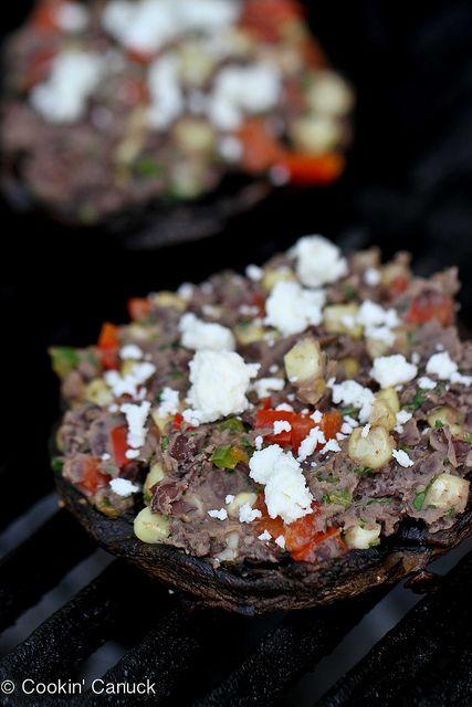 Southwestern Stuffed Portobello Mushroom Recipe with Cumin Black Beans ...