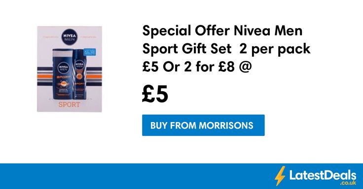 Special Offer Nivea Men Sport Gift Set  2 per pack £5 Or 2 for £8 @ Morrisons, £5 at Morrisons