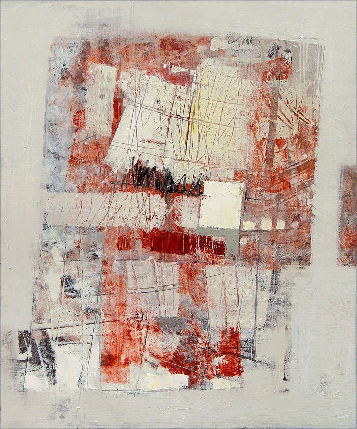 Russian Artists New Wave Painting - Abstract In Red 2 by Olga Shagina  #RussianArtistsNewWave #OlgaShagina #AbstractArt #ArtForHome #InteriorDesign #OriginalPintingForSale #OriginalPainting #ArtForSale