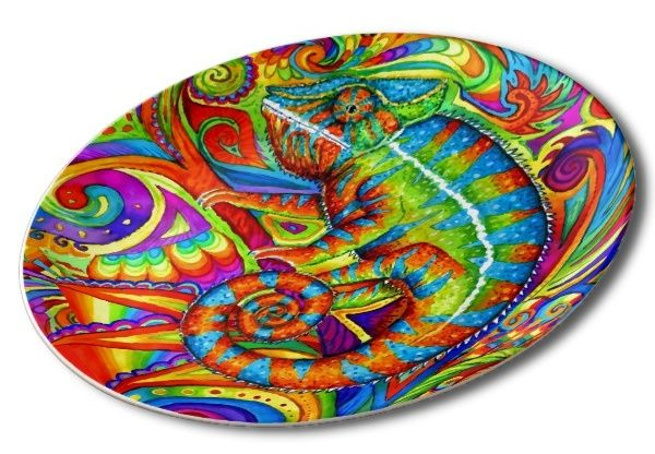 Looking for unique and interesting plates for your dining room collection?  In my Online Store there are dozens of original designs that you will not find anywhere else.  These beautiful and colorful plates will liven up your dining room and bring a splash of color to your decor.  Use for special occasions, give as gifts, or hang on the wall or display in the china cabinet as decoration.