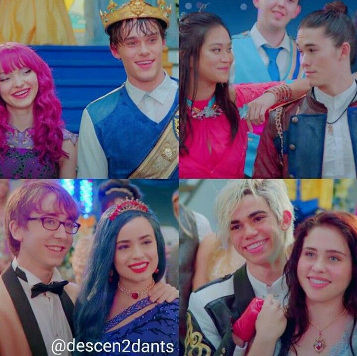 Descendants 2 couples Mal and Ben and Jay and Lonnie are the best of the 4 ones I am saying this because my fav characters are in it!!! #Descendants2 #DisneyChannel
