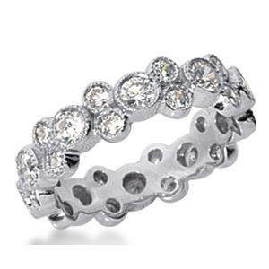 Memory Diamantring mit 1.50 Karat Diamanten im Brillantschliff aus 585er Weißgold für nur 2100.00 Euro bei www.juwelierhausabt.de