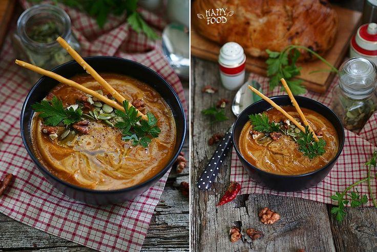 Тыквенный суп с карри и вялеными томатами - HAPPYFOOD