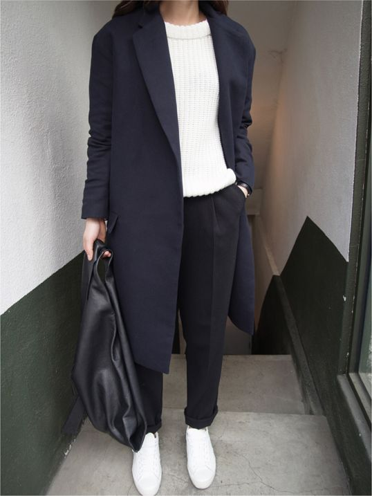 hipster londinense abrigo oscuro