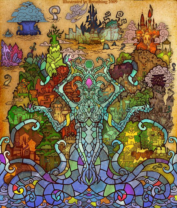 Amazing Stained Glass-Style World Of Warcraft Fan Art