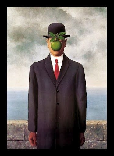 Surrealist Art-Rene Magritte-Son of Man-1964, private collection