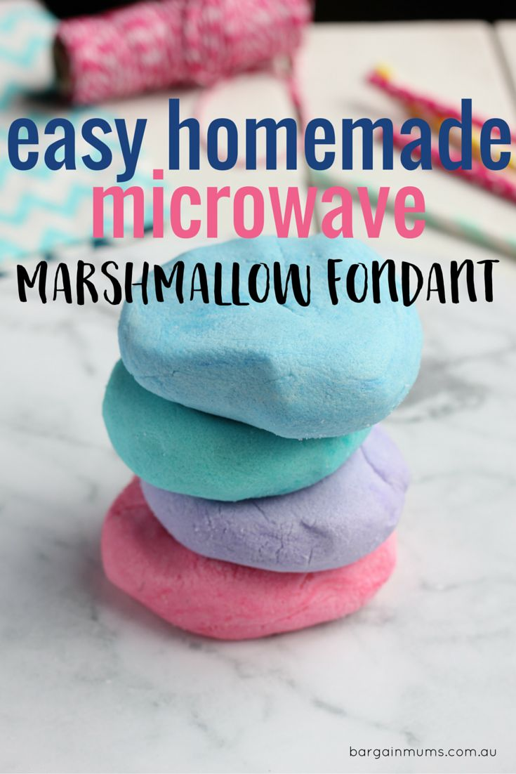 This easy homemade microwave marshmallow fondant tastes so good you will never buy store