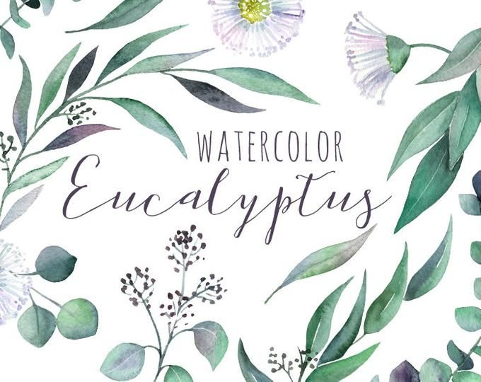 Watercolor Clipart Greenery Leaves Branches Foliage Green Bright Emerald Aquarelle Clip Art Seamless Pattern Fresh Free Commercial Use Png Spring Wedding Flowers Coral Clip Art Watercolor Clipart
