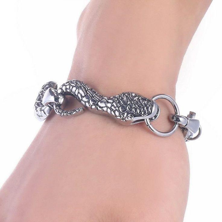 Fashion Punk Skull Stainless Steel Charm bracelet for Women DIY Bracelets & Bangles Charms Bracelets Men Pulseira Jewelry Gift