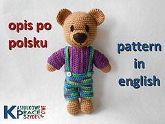 crochet teddy bear pattern / opis szydełkowego misia