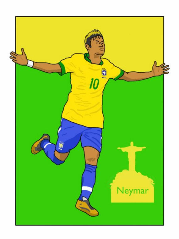 This listing is for a 16 x 12 print of my Neymar Jr Brazil artwork. Printed on a quality matt photo paper, this is perfect for framing.    16 x 12