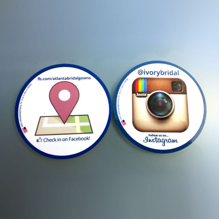 Large circle stickers for facebook places and instagram help ivory bridal grow their local followers in