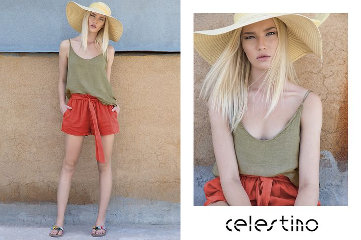 Today we choose a hot chic outfit for the city or the island! #Celestino #shorts #hat #fashion #trends #styleinspiration #fashioninspo #accessories