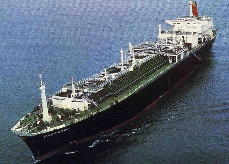 SS Gastrana, Shell Tankers(UK) one of a fleet of 7 ships run by Shell Tankers(UK) in the 70s and 80s  shipping LNG  from Brunei to Japan, mostly to Chiba, Yokohsma and Osaka. About 50,000 tons DWT the boilers were designed to supplement their fuel by using evaporating LNG.