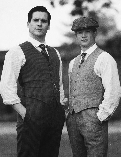 Rob James-Collier (Thomas Barrow)  Ed Speleers (Jimmy Kent) - Downton Abbey (TV Series) #uk #british #greatbritain