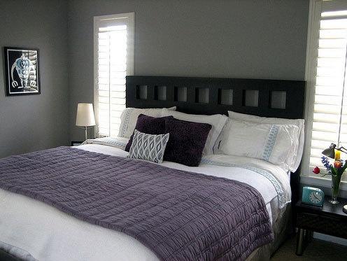 Purple look for bedroom.