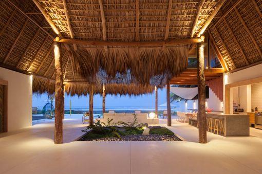Casa de playa en un rancho de diseño: palenque