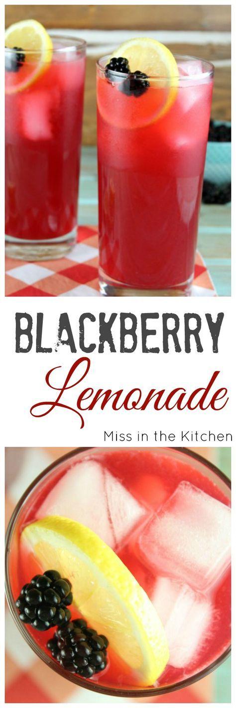 Blackberry Lemonade Recipe to make all summer long! From http://MissintheKitchen.com