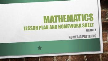 Lesson plan, worksheet and memo