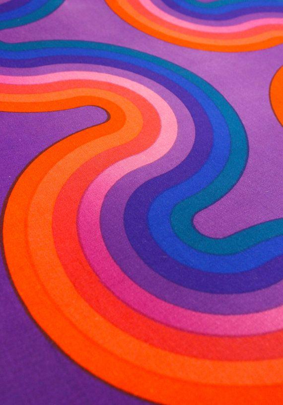 Milieu de siècle Verner Panton spectre Kurve pour panneau de mur de tissu Mira X