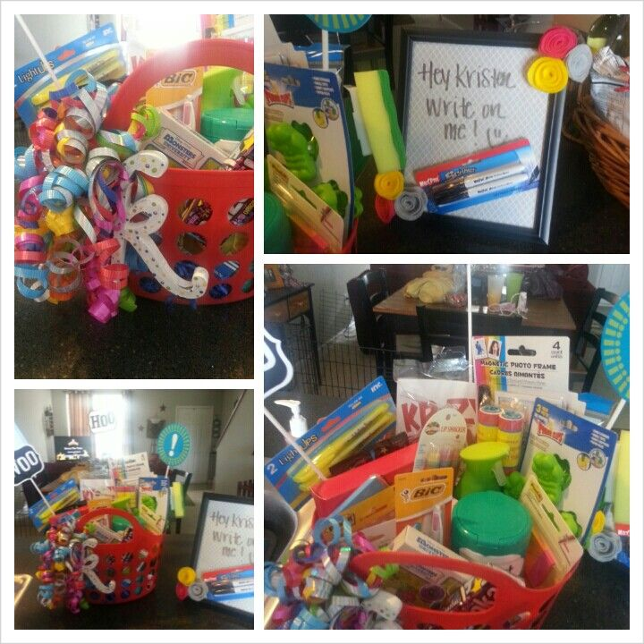high school graduation gift basket for those heading to